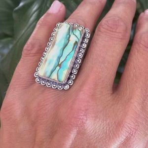 Gorgeous Abalone Sterling Silver Ring